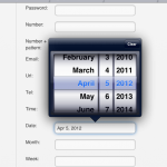 Datepicker on iPad