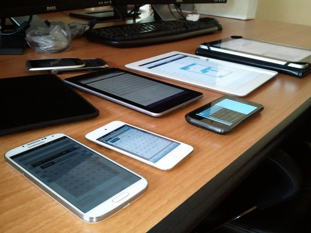 Our test devices