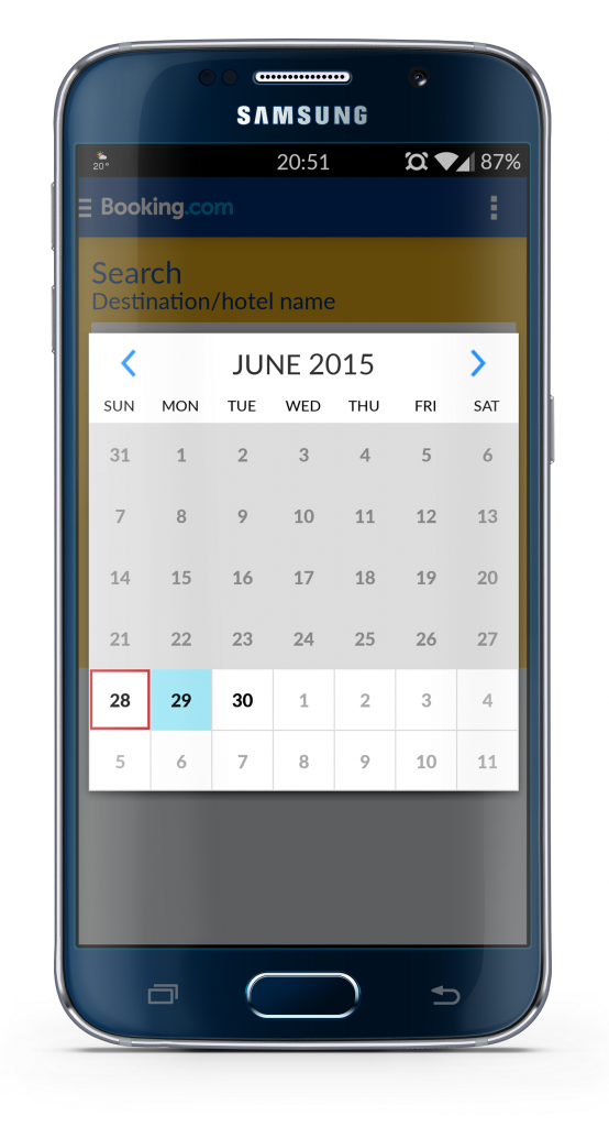 booking calendar android paint