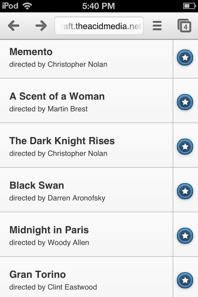 Building a Movie Rating System with jQuery Mobile and