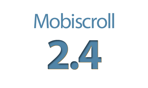 Mobiscroll 2.4 released