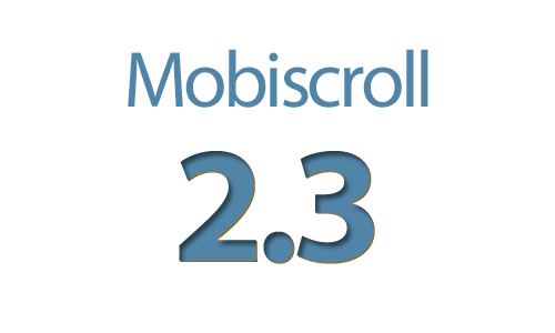 Mobiscroll 2.3 released