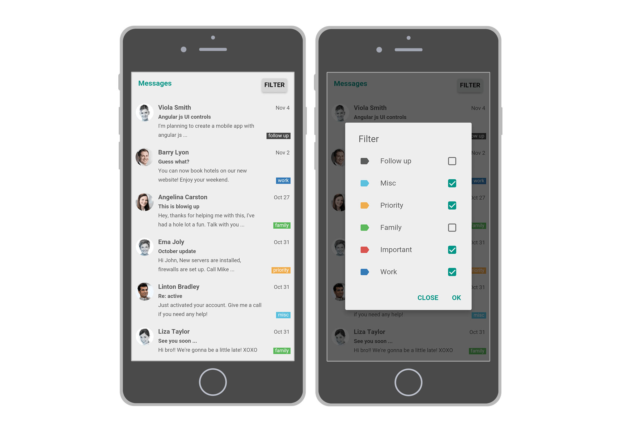 How to do multiple selection on mobile | Mobiscroll Blog | Design