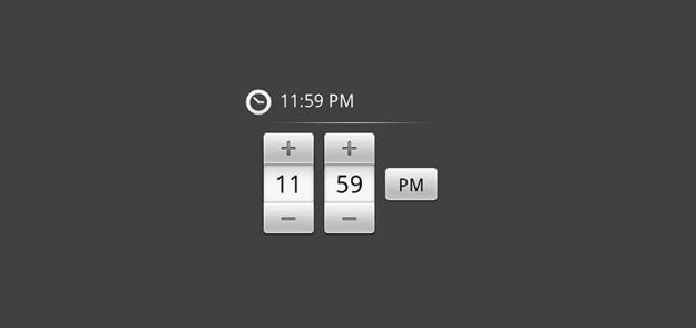 Time input