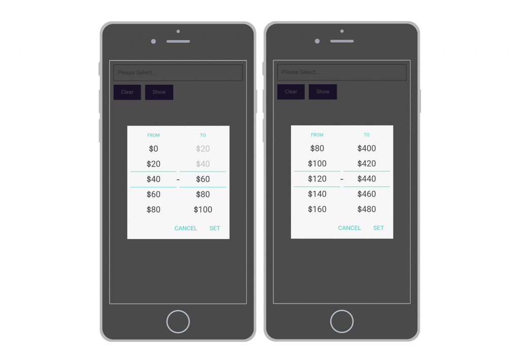 Currency input on mobile | Mobiscroll Blog | Design, UI and